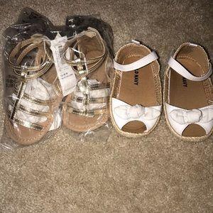 Baby Girls Old Navy Sandals 12-18 months